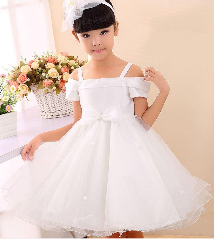 80e0de9eb 2015 جديد أزياء الأميرة اللباس الصيف طفل الزهور الفتيات فساتين الزفاف حزب  الطفل الاطفال ملابس الأطفال