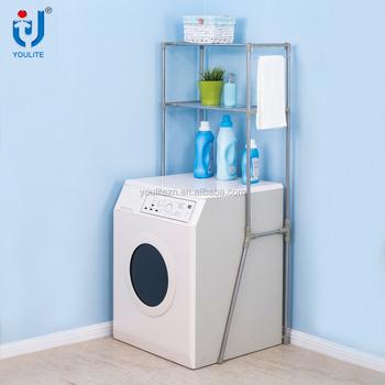 Multifunctional Two Layer Washing Machine Storage Rack