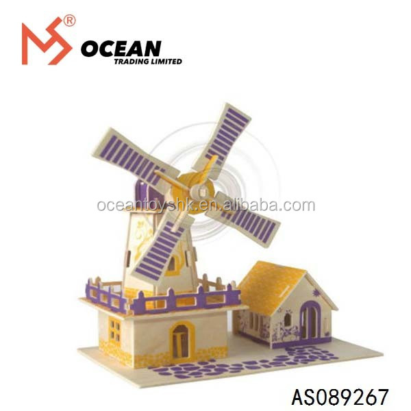 New style 3D wooden puzzle toy wooden house