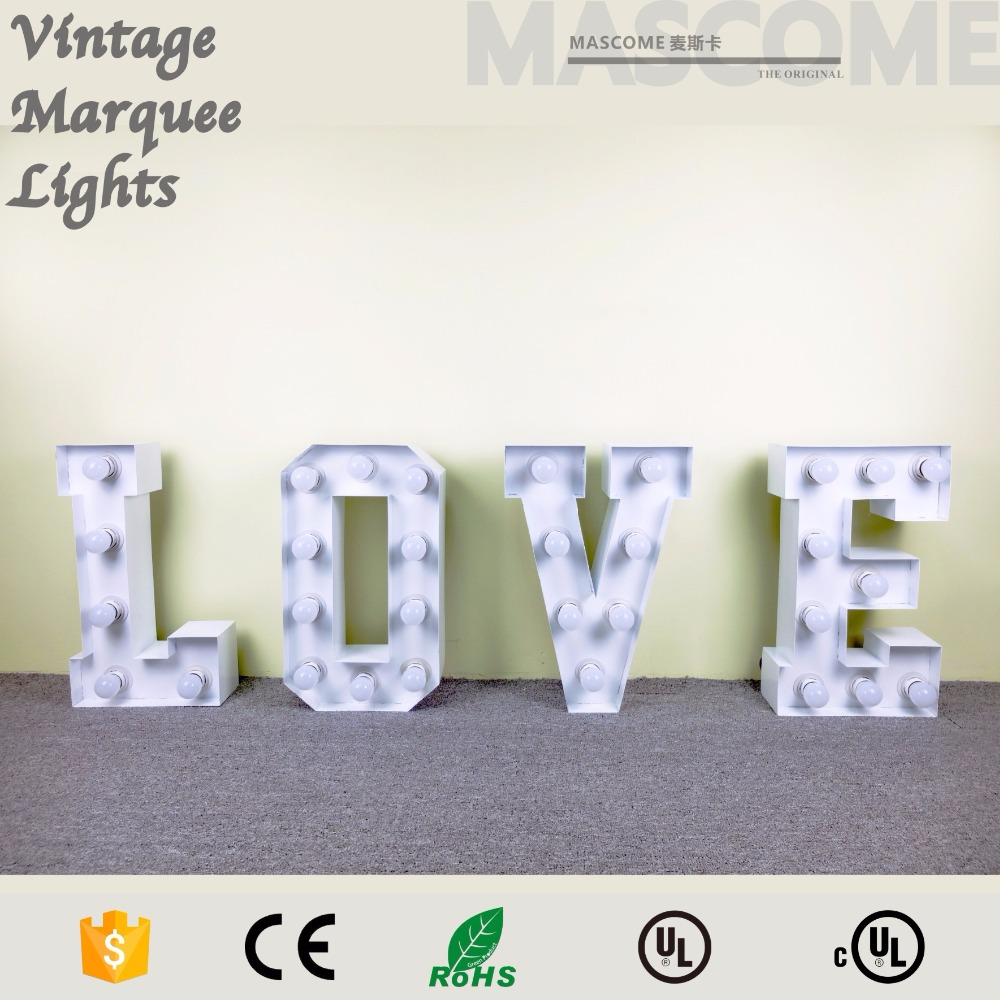 "70"" height LOVE DC LED LETTER <strong>SIGN</strong>,LED bulb,different size,wholesale viable"