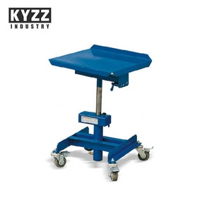 single mast tilt pedal foot lifting Hydraulic lift table with wheels