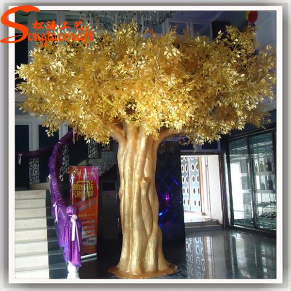 Fake artificial large golden wedding wishing tree decorative trees ...