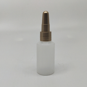 Factory direct deal 15ml PE plastic bottle for eye cream with steel ball