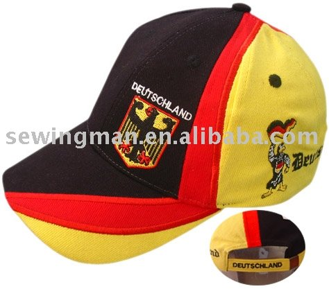 Flag Cap Germany Soccer term logo caps football fans cap