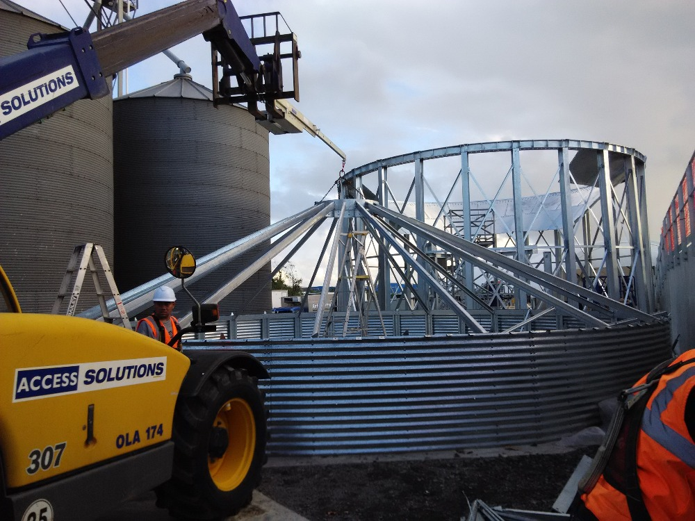 Galvanized large capacity corn storage grain silo