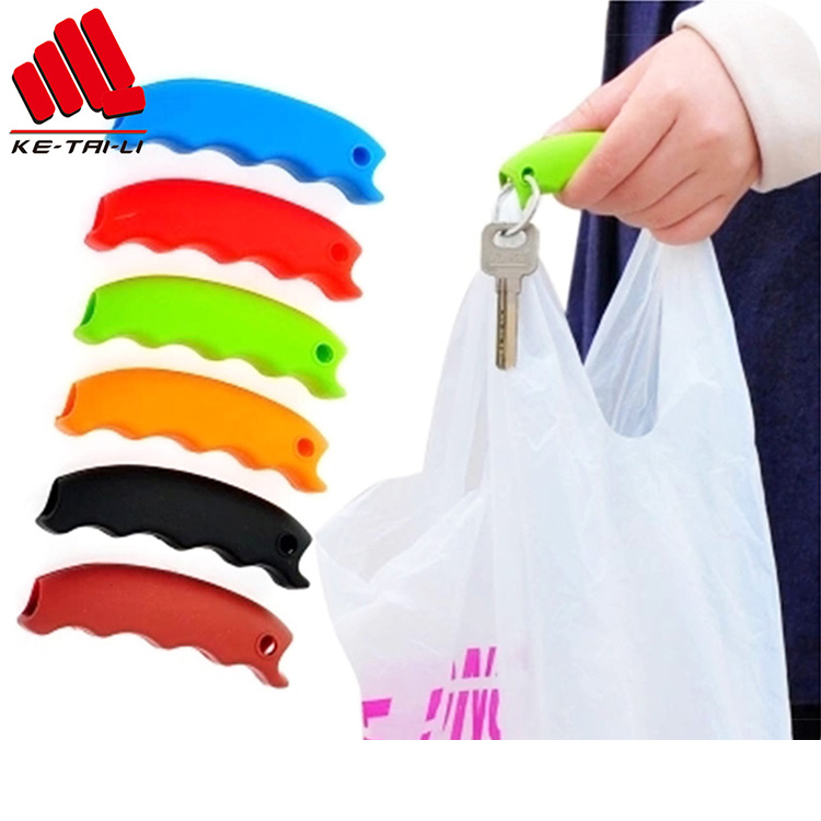 Soft Elastic Durable Custom Silicone Rubber bag Handle Shopping bag Carrier