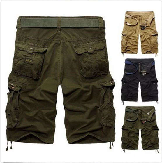 Fashion Military Camo Short Cargo Pants Men Trouser Short Pants 3 ...
