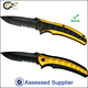 New Craft Double Anodized Aluminium Handle Black Coated Partial Serrated Blade Folding Pocket Knife With Belt Clip