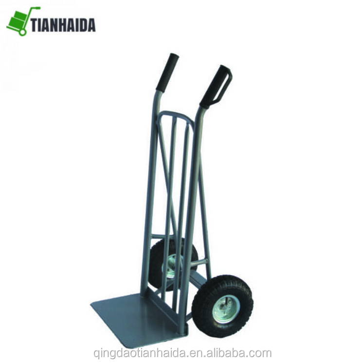 HT2132B  Ideally suited to both office and warehouse Plastic knuckle guard hand grip Tubular steel frame  hand trolley truck