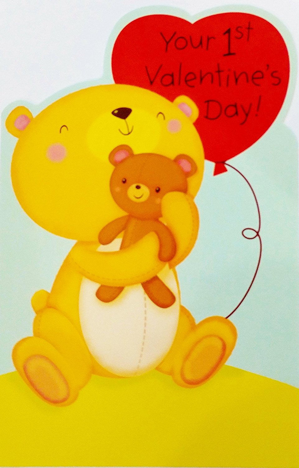 """Your 1st Valentine's Day - """"Hello there, Little Baby - You're sweet as you can be - that's why your first Valentine is sent so lovingly!"""" Greeting Card XO"""
