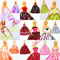 Hot 30 Pcs 10 dresses 10 hangers 10 shoes Handmade Gown Doll Clothing Accessories Princess Skirt