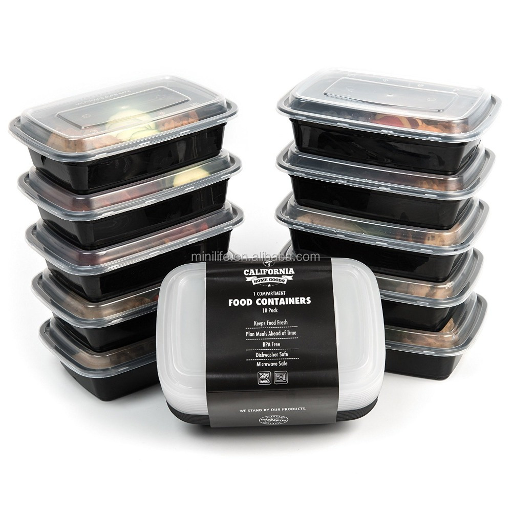 500Ml 750Ml 1000ML 1250ML PP Microwave Takeaway <strong>Plastic</strong> Disposable Food Container