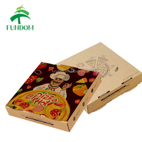alibaba yiwu zhejiang china real professional SGS oem brand printing paper pizza box manufacture