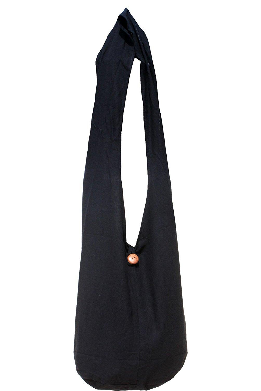 b7f77293fd65 Get Quotations · RaanPahMuang Plain Thai Cotton Yaam Monks Shoulder Bag - Long  Strap