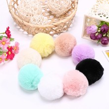 Candy color faux rabbit fur pompom balls DIY pom poms educational toys for kindergartenl
