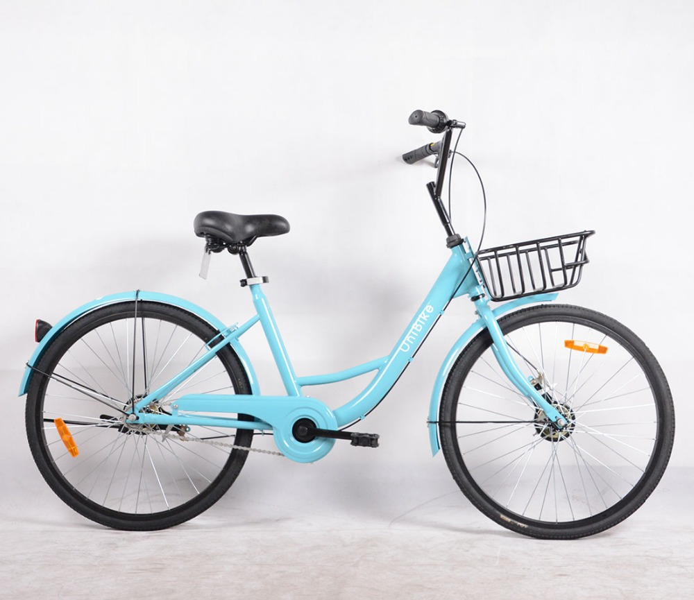 24 inch steel frame single speed cheapest public sharing bikes