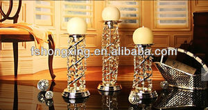 C-SOX 2014 hot sale silver crystal candlesticks for wedding&party &restaurant