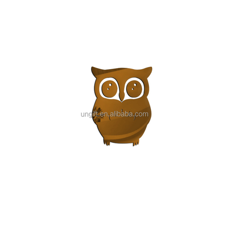 Hot sale 3D owl mirror wall stickers room wall stickers