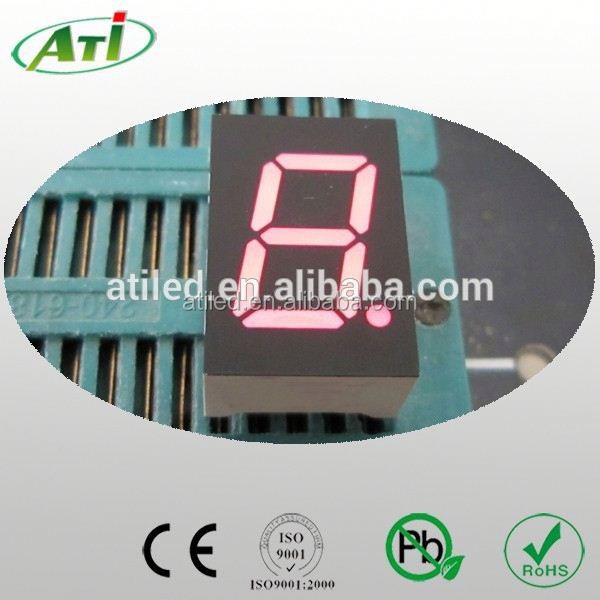 3 inch single 1 digit led 7 segment led display 1 digit red green blue