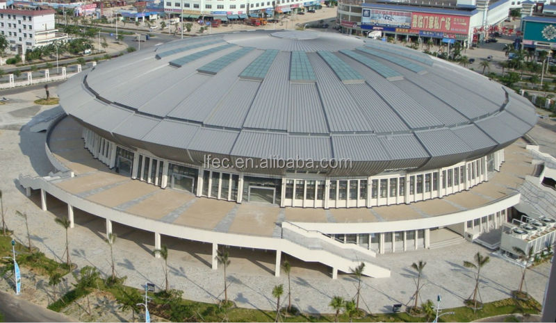 Prefab galvanized steel frame stadium roof