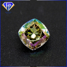 color changed cushion princess cut synthetic gemstone cubic zirconia semi precious stone