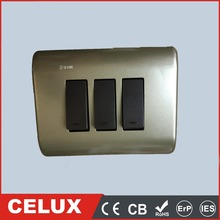 CET-0111-2 electric wall switch 6A 250V/10A 127V 3 gang 2 way new design wall switch touch wall switch