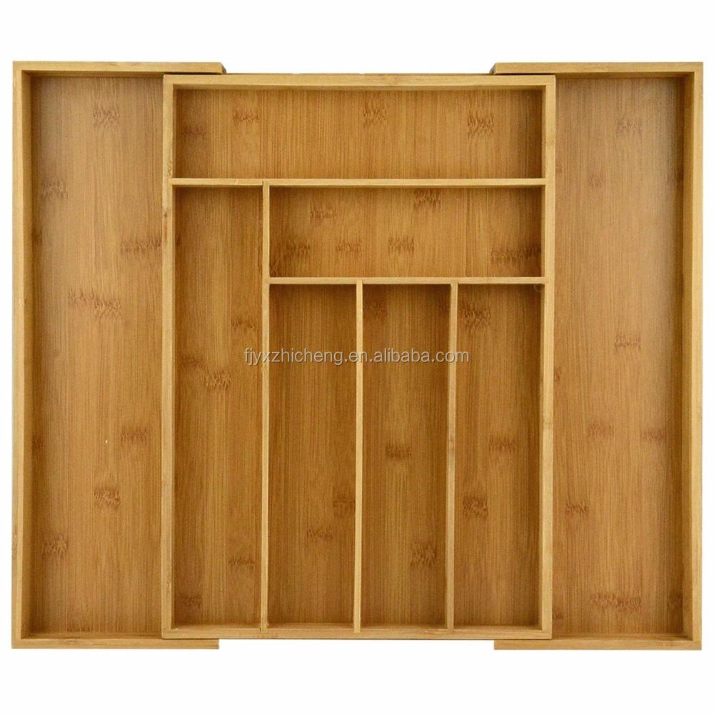 moso bambou extensible/pliage cuisine tiroir organisateur/tiroir à