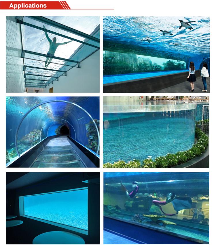 80mm Aangepaste aquarium aquarium grote acryl