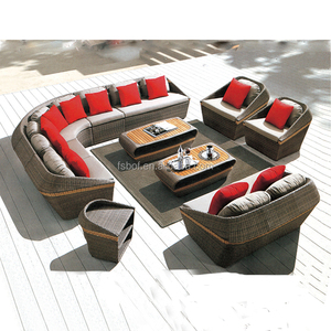new design cheap garden outdoor furniture rattan sofa set A7004