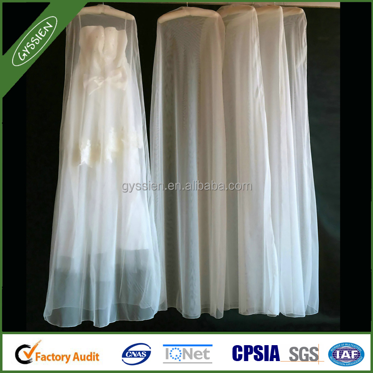 Organza wedding dress cover factory