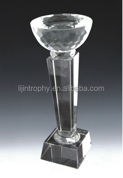 Unique Crystal Golf Trophy cup