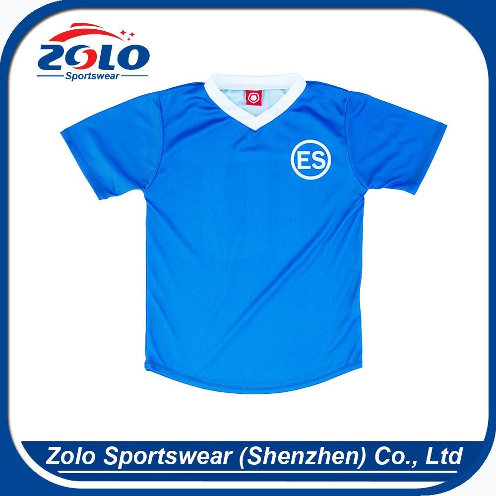 c1e70076a32d7 Fornecedor direto da fábrica personalizado tag logotipo bordado camisas de  futebol baratos