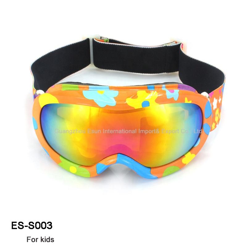 2d041f4620f Kids OEM Ski Goggles Professional Custom Strap Ski Glasses Anti Fog UV  Double PC Lens Ski