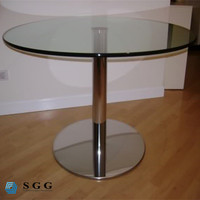 round and rectangular tables glass