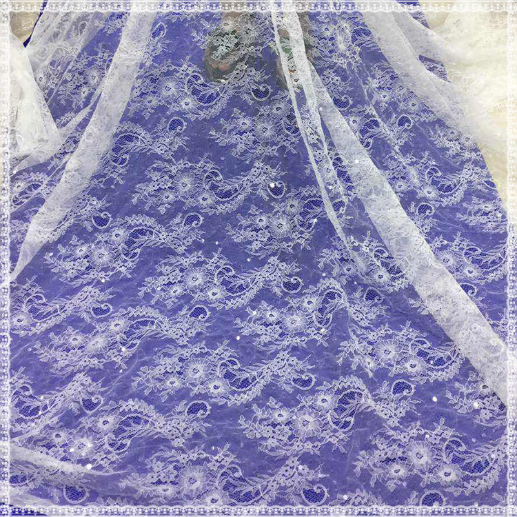 Newest royal lace fabric type wedding party fashionable bridesmaid dresses sequin fabric net lace
