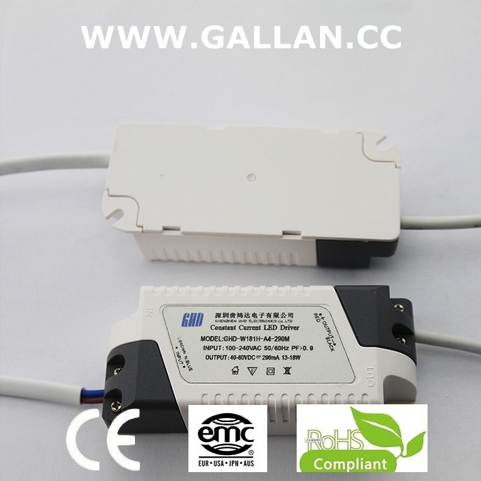 outdoor csa CE RoHS approved China led driver 18w current