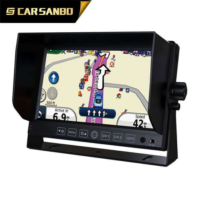 Hotselling analog video inputs car wireless monitor with GPS navigation