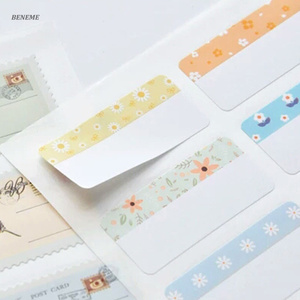 Pre-print Die Cut Shaped Remove Writable Waterproof Name Sticker Label Sheet