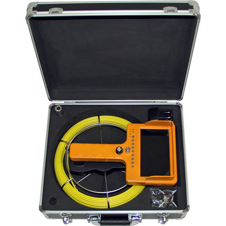 Video Snake Pipe&Wall Inspection Color Camera System with push rod cable