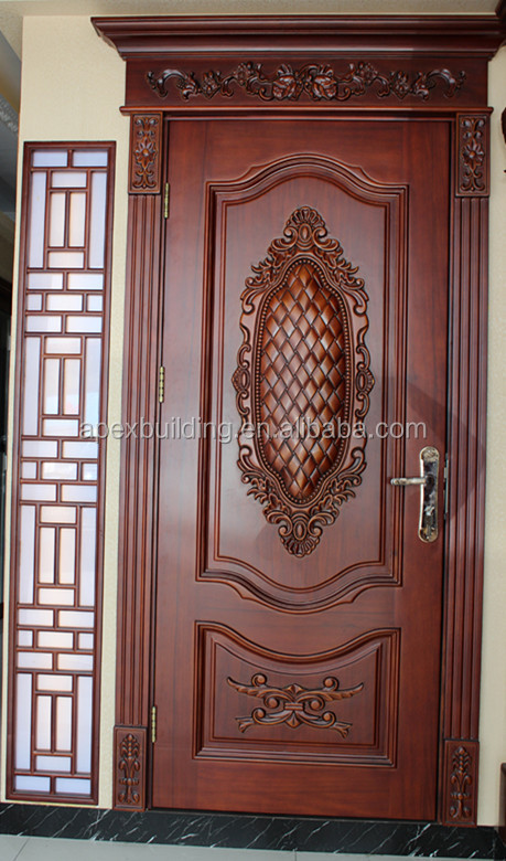 Antique carved main doors crown frame carving design buy for Main entrance doors design for home