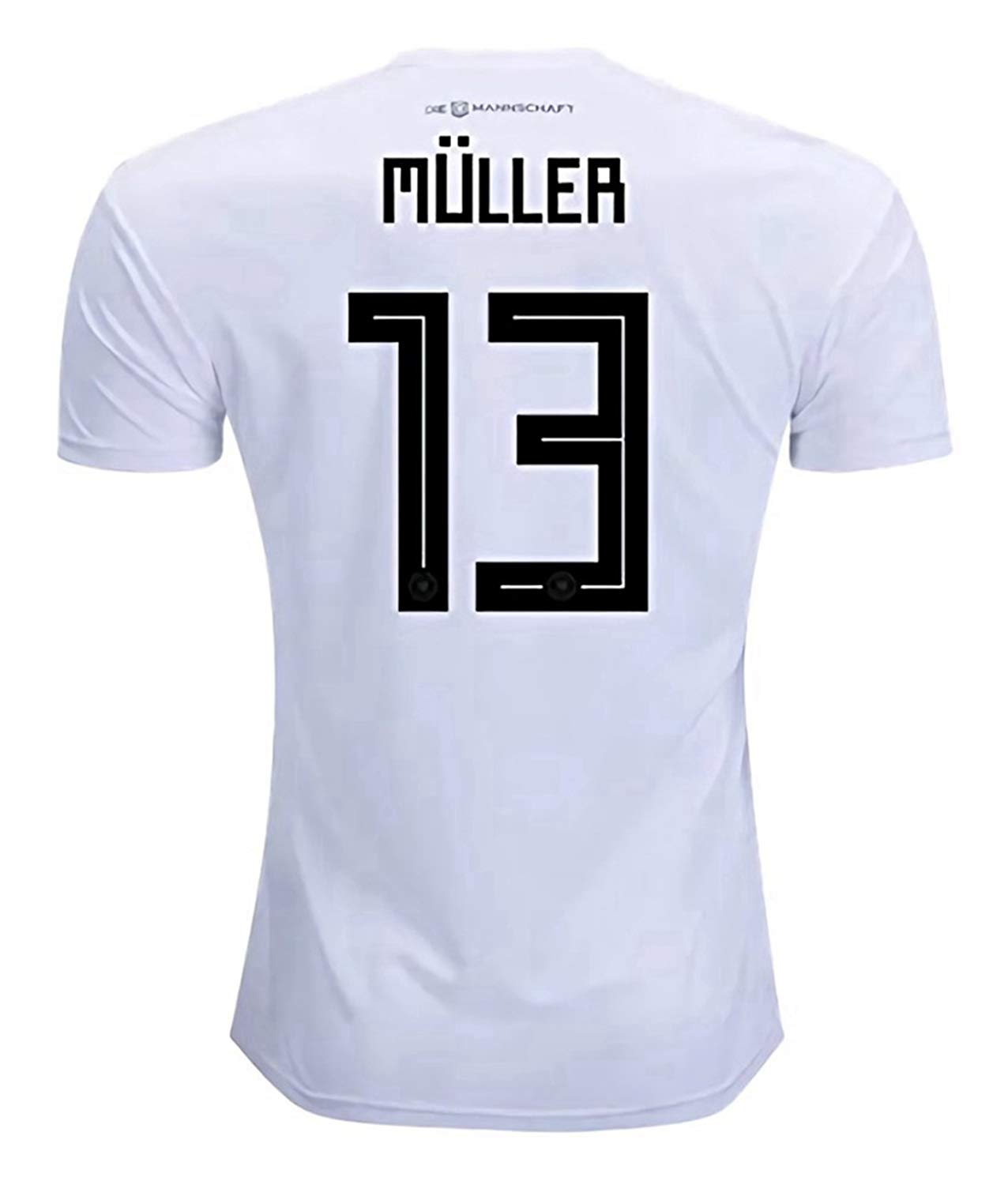77f78e70d22 Get Quotations · National 2018 Team World Soccer Cup Germany Muller 13 Home  Stadium Mens Jersey Size S