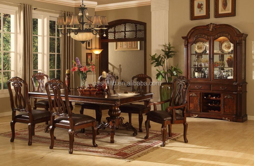 De Lujo De Madera Antiguo Comedor Casa/hotel Muebles De Comedor ...