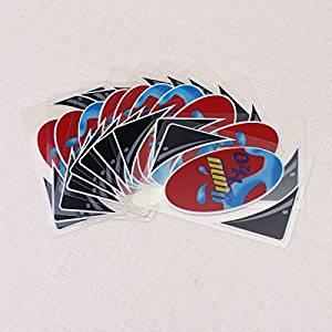 SICA Plastic Transparent Waterproof UNO Card Game Family Fun Poker Card