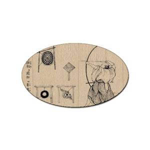 Bow and Arrow sport oval magnet