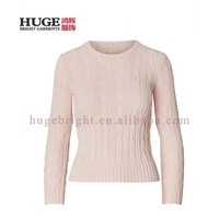 Long Sleeves With Ribbed Cuffs Ribbed Hem Pullover Sweater Sweet