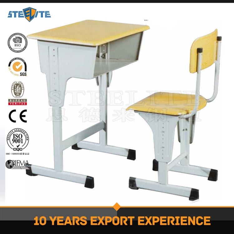 Kids study desk school desk student desk and chair metal wood school furniture