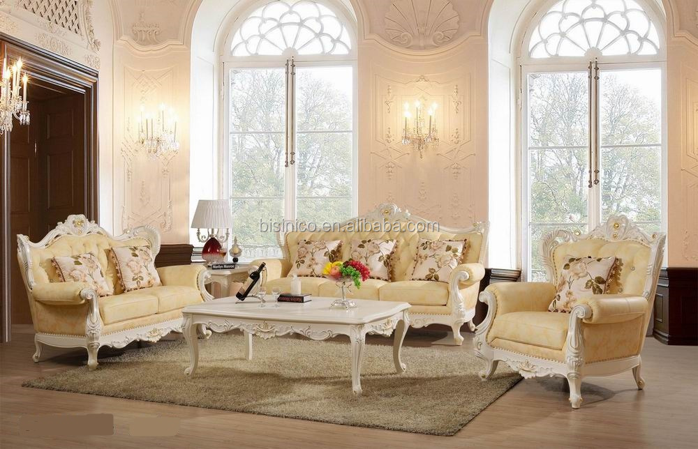 Luxury Living Room Furniture Antique French Style Sofa