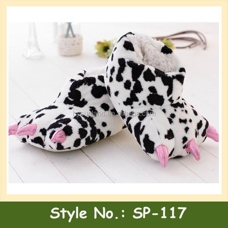 SP-117 Women Girl Indoor Cartoon Slipper Animal Plush Cotton Slipper