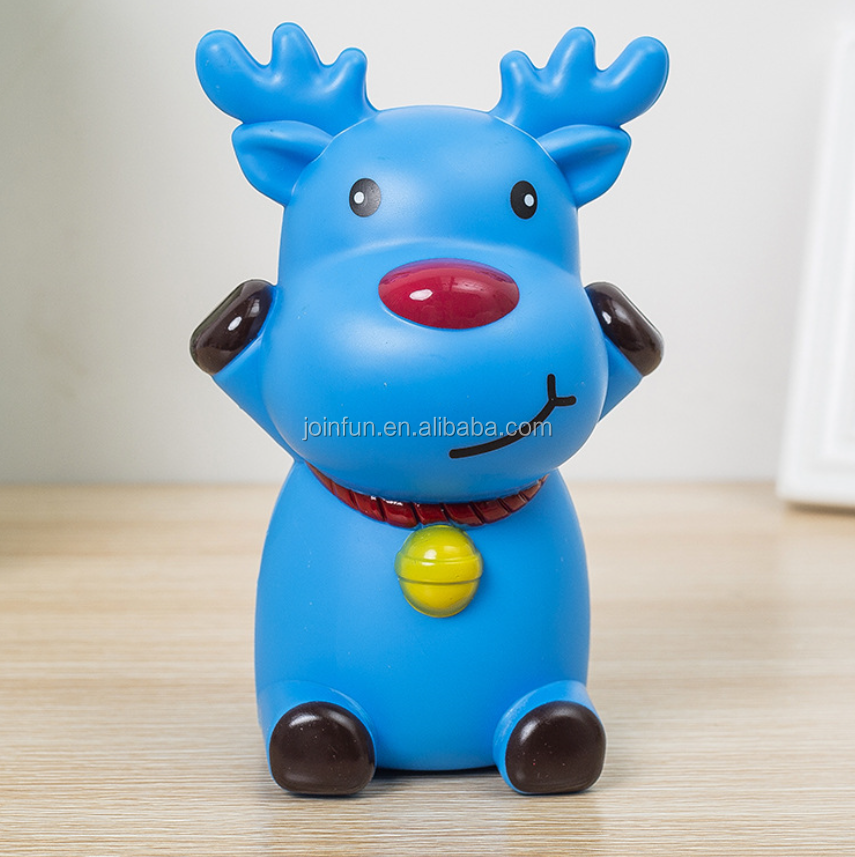 custom design kids plastic piggy bank, custom made plastic piggy bank for kids