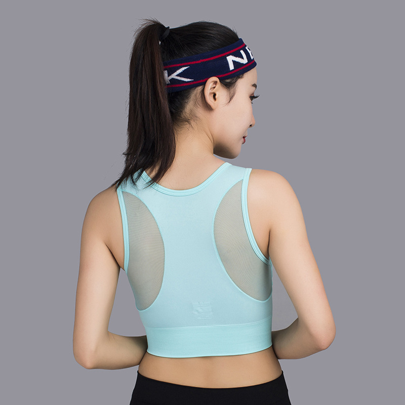 Womens Organic Yoga Clothing Reversible Plain Sports Bra Supplex Compression Running Top Seamless Sports Bra